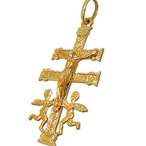 Cruz De Caravaca Ángeles Cristo En Relieve