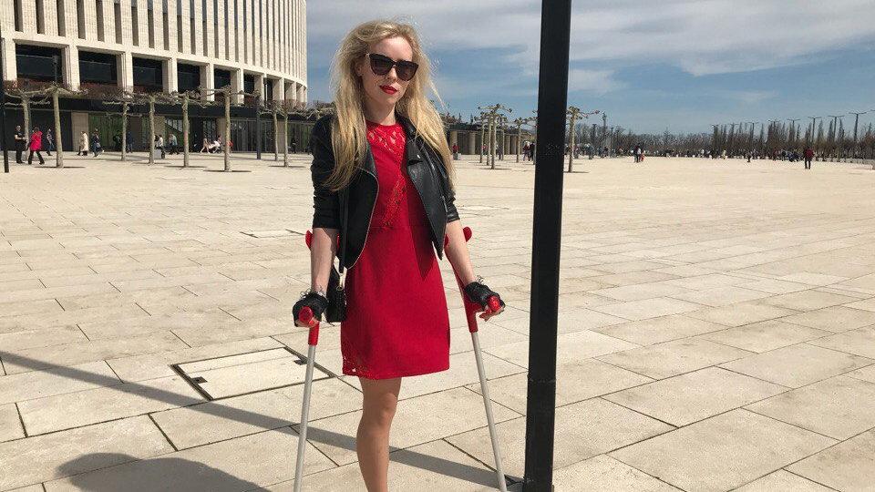 Elena - Red Crutches