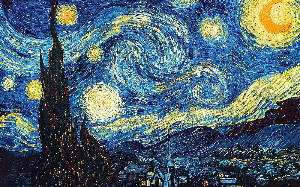 This is a painting of Van Gogh's starry night