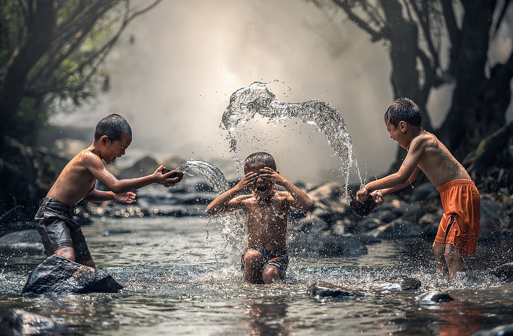 Picture of children playing in water