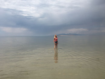 Kenneth Kiwicz captures Lauren Kiwicz in the Great Salt Lake