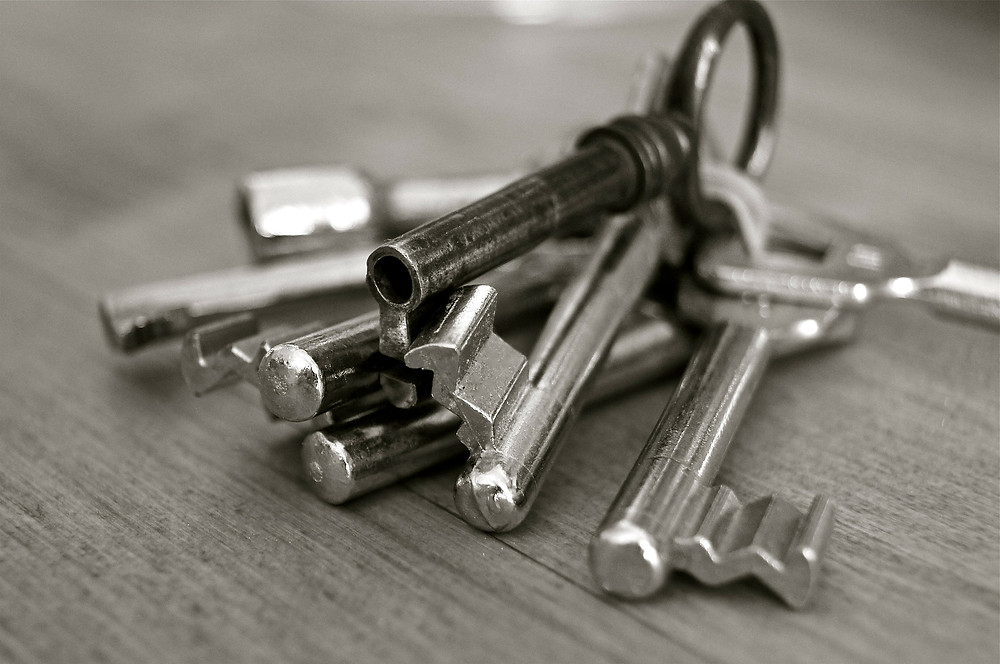 Kenneth J Kiwicz picture of keys laying on a desk for opening doors
