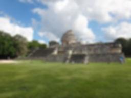 Kenneth Kiwicz explores the ruins of Chichen Itza