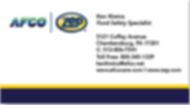 AFCO ZEP - Ken Kiwicz Business Card - Sanitation Food Safety Consultant 300x400.png