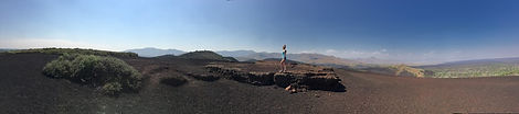 Kenneth Kiwicz takes photo of Lauren at Craters of the Moon