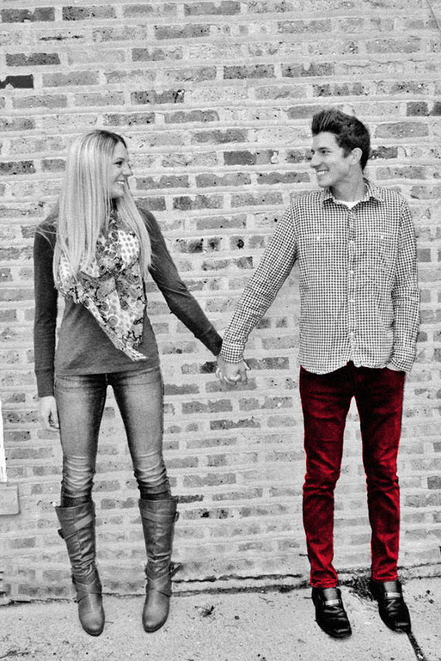 Kenneth Kiwicz and Lauren Engagement Photos- Red Pants