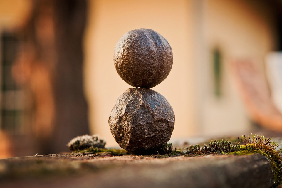 Kenneth Kiwicz uses a picture of rocks balancing to show harmony of what you think say and do.