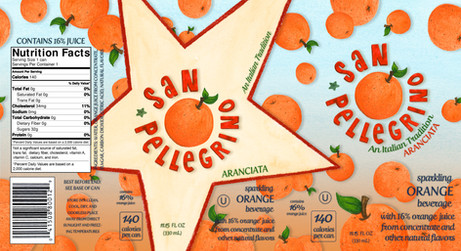 San Pellegrino Packaging Design Layout Illustration
