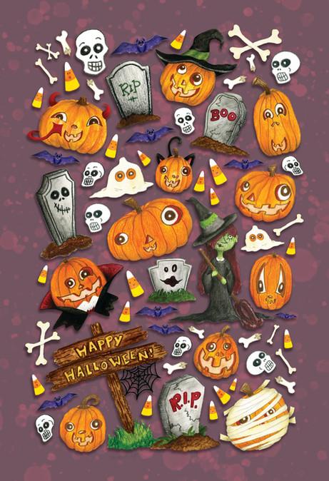 Happy Halloween Pumpkin Poster
