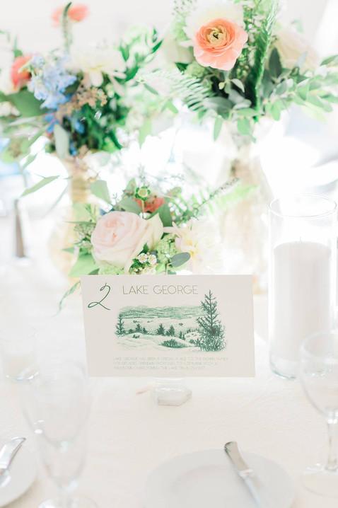 Lake George Wedding Card