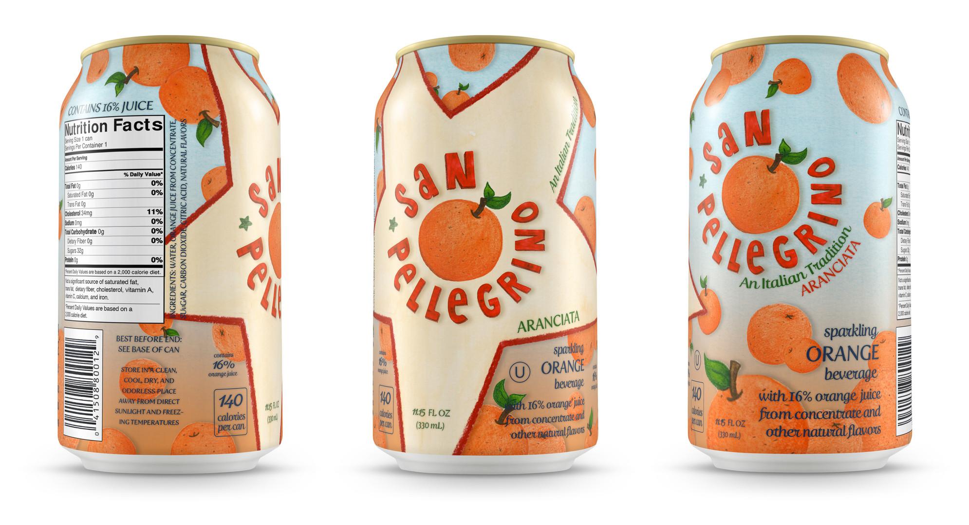 San Pellegrino Orange Flavored Sparkling Water