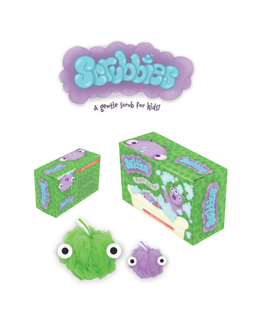 """Scrubbies"" Box and Loofa"