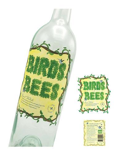 Birds & Bees Wine Label - Redesign