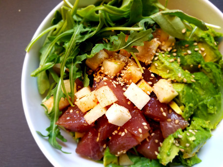 Ahi-Avo Jicama Salad