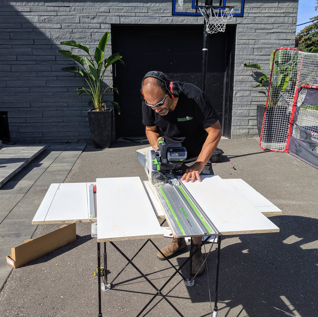 Custom Drawer Making On-Site