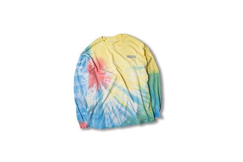 Sunburst Tie-Dye Oversized Long Sleeve Tee