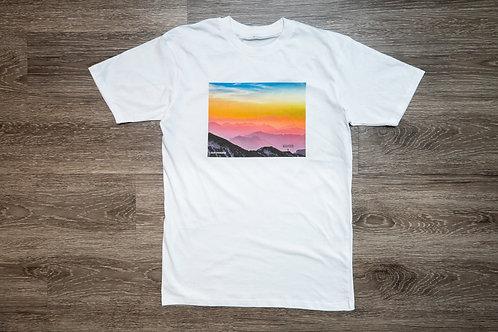 Enjoy the Process Pastel Sunset Mountain Tee