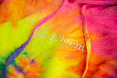 Elevated Electric Neon 'be present' Hoodie