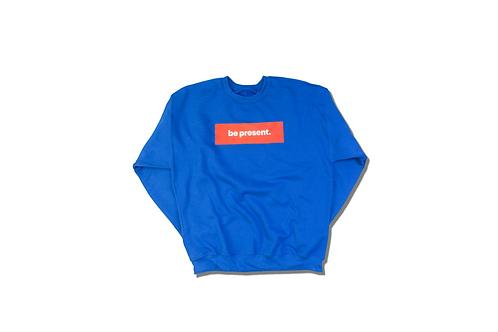 "LA Dodger Blue crewneck ""be present"" Box Logo sweater"