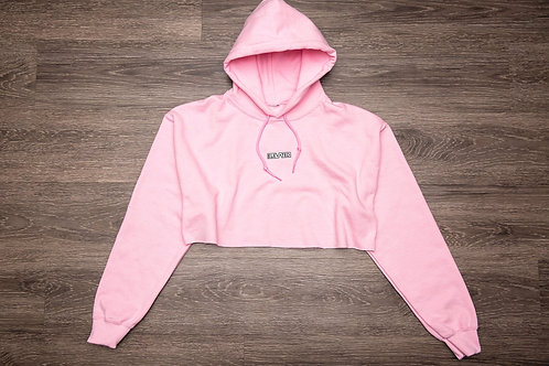 Elevated 'be present' Geometric Butterfly Cropped Hoodie