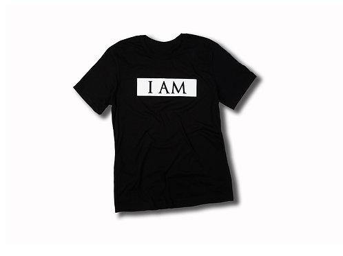 """I AM"" Box Logo White Tee"