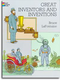 Great Inventors and Inventions Coloring Book