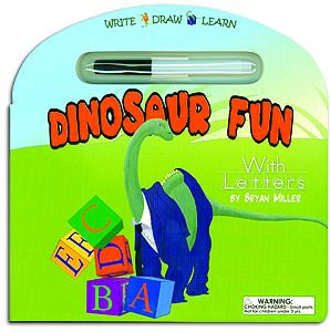 Dinosaur Fun with Letters Reusable Board Book