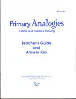 Primary Analogies - Book 2 - Teacher's Guide and Answer Key