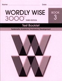 Wordly Wise 3000 Test Booklet - Book 3