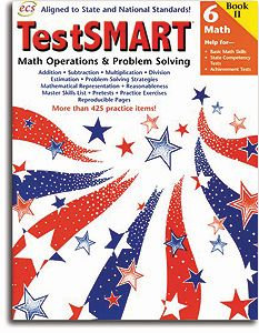 TestSMART Math Operations & Problem-Solving- Grade 6