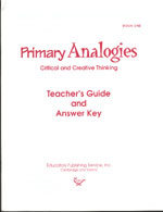Primary Analogies - Book 1 - Teacher's Guide and Answer Key