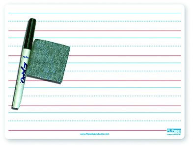 Red & Blue Ruled Dry Erase Board Set for Primary Penmanship/Handwriting
