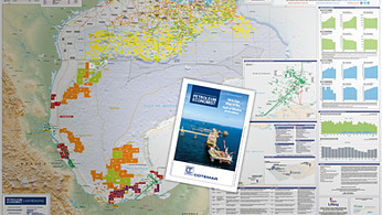 Oil and Gas Map of The Gulf of Mexico - 2018 edition
