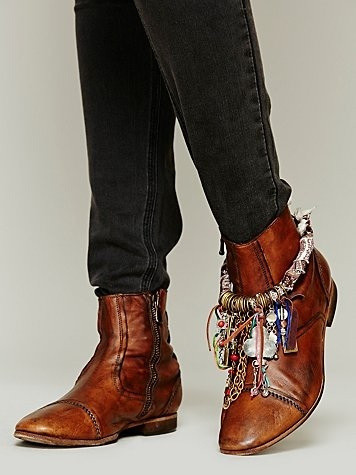 purple boot charm on boot
