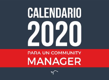 Calendario 2020 para un Community Manager