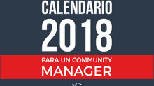 Calendario 2018 para un Community Manager