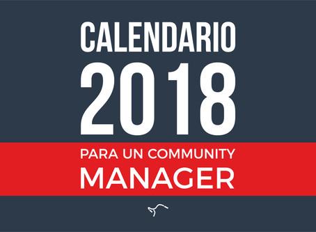 Calendario 2018 para un Community Manager
