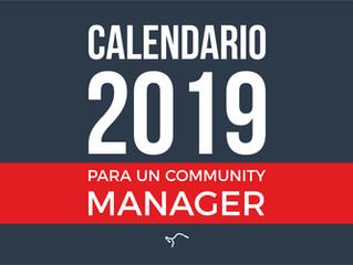Calendario 2019 para un Community Manager