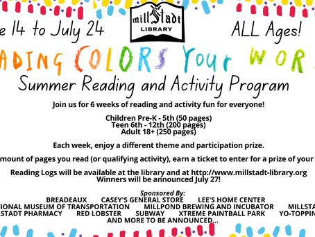 Summer Reading and Activity Program is Here!