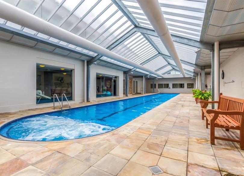 Heated mineral pool