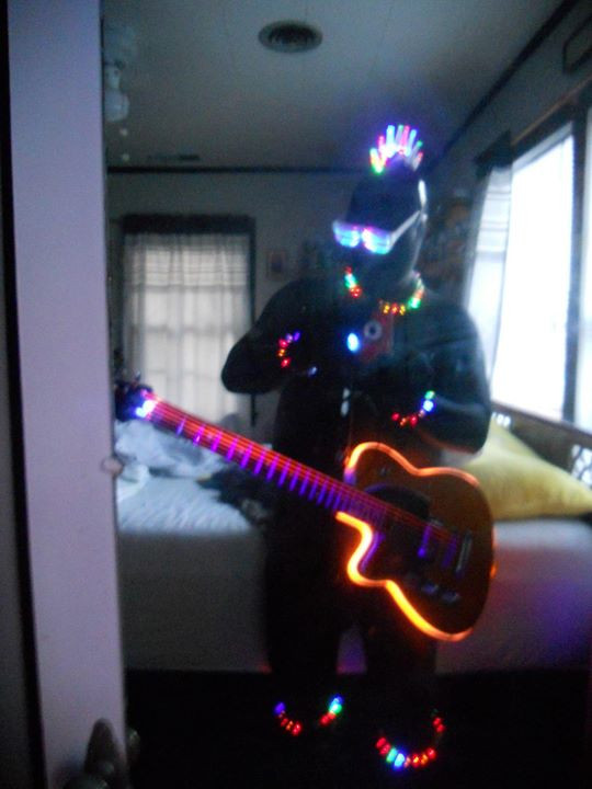 This is a project that never really got completed. El wire and glow rage looked cool, but was too high maintenance.