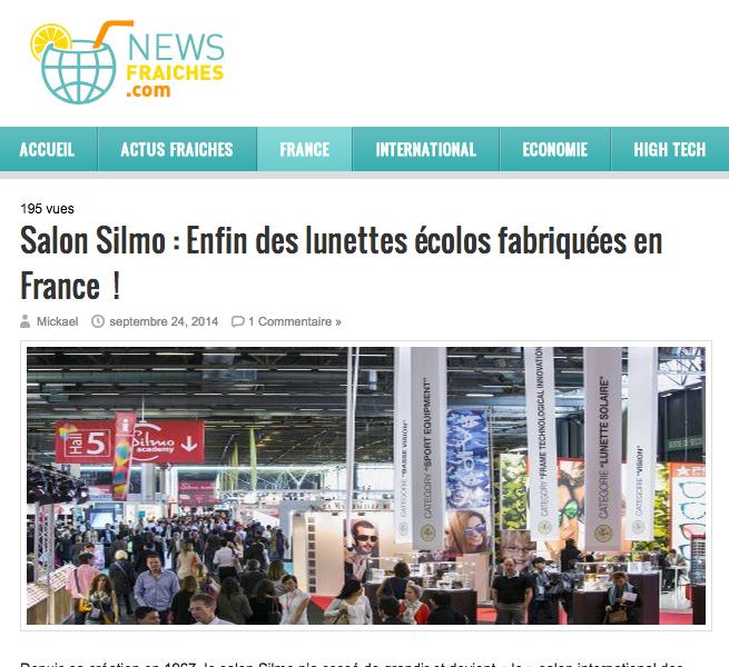 Silmo : OpSB les lunettes écolos fabriquées en France