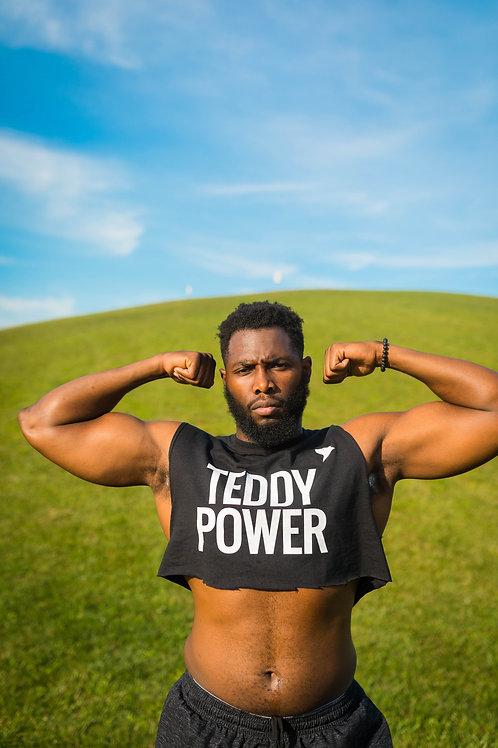 Sleeveless Teddy Power Crop Top