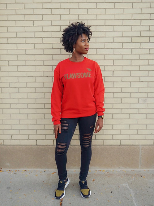 Red Flawsome Sweatshirt