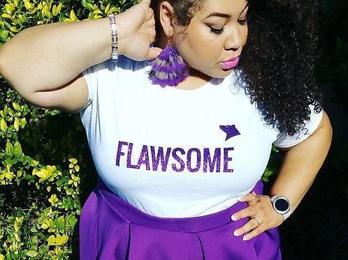 Purple Flawsome Women's Tee