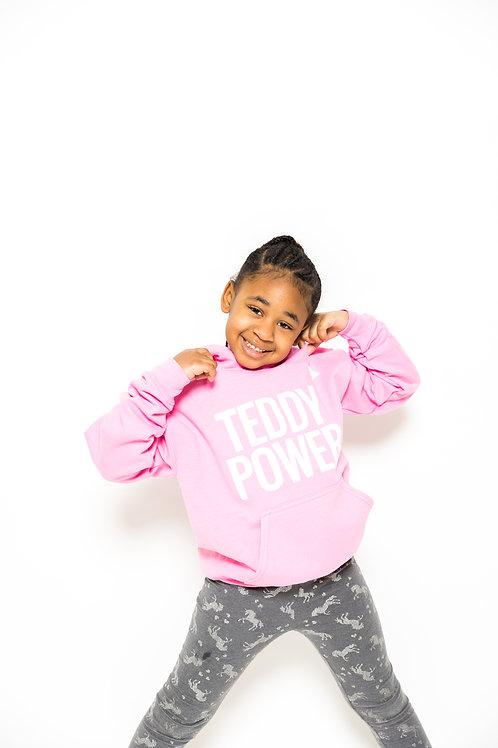 Kids Teddy Power Hoodie [pink]