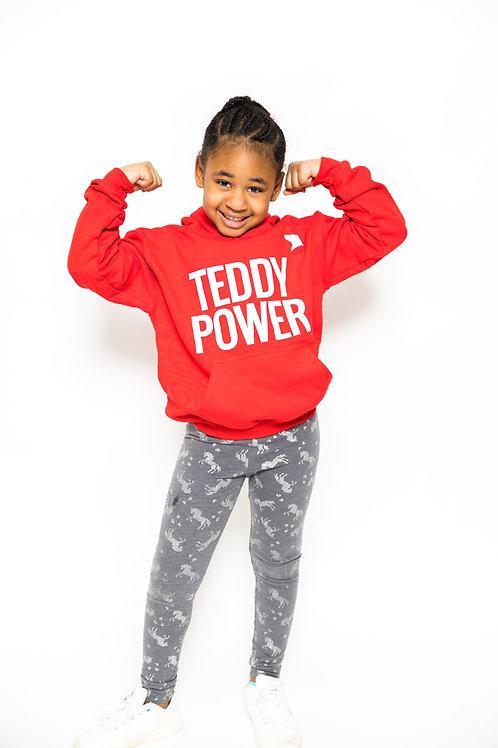 Kids Teddy Power Hoodie [red]