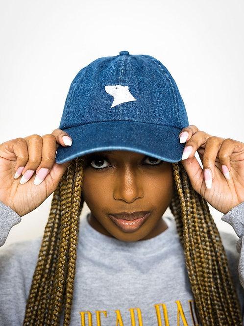 Navy Denim Dad Hat