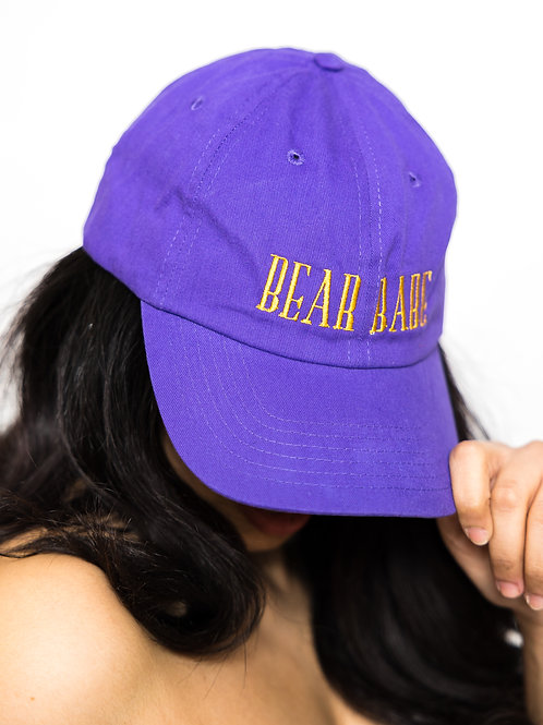 Bear Babe Dad Hat [purple]