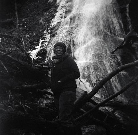 Elizabeth at Rufus Morgan Falls